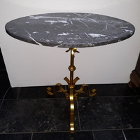 Guilded base , marble top