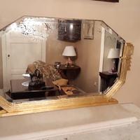 Vergulde art-deco spiegel